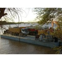 Buy cheap Working Offshore Ferry Barge floating pontoon platforms Reusable product