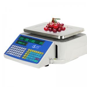Buy cheap Dual Screen Design Digital Barcode Label Printing Scale Max Capacity 30kg product