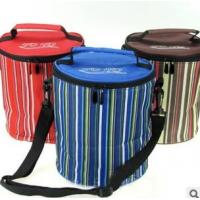Buy cheap Striped polyester insulated round lunch bag product