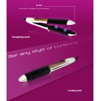 China China hot sale 2 in 1 round hair flat iron and hair brush with cheap price wholesale