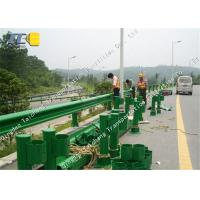 Buy cheap Highway W Beam Crash Barrier Two Corrugated Steel Guardrails Rustproof product