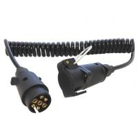 Buy cheap Spring Coiled Electrical Wire With 7 Pin Small Round Trailer Plug product
