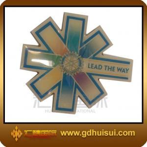 China cheap custom brass wheel center cap badge on sale