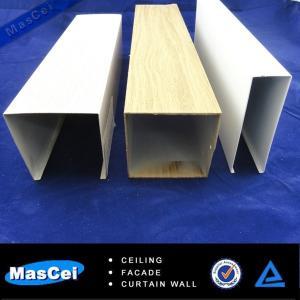 Buy cheap 2014 Popular Aluminum False Baffle Ceiling/False Ceiling Designs/Wood Laminate Wall Panels product