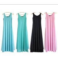 Buy cheap O Neck Teal Pink Womens Summer Maxi Dresses Mesh Veils Strappy Prom Dresses product
