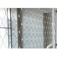 Buy cheap 316 Stainless Steel Rope Mesh Netting , Ferrule Type Architectural Wire Rope Mesh product