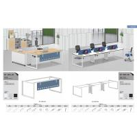 Buy cheap The pentagon tube shape office desk workstation cluster 6 person staff use product