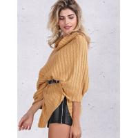 Buy cheap Turtleneck Fashion Pullover Sweaters Cable Knit Pullover Womens Capes And Cloaks product