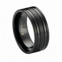 China Titanium Wedding Band with Satin Finish and Polished Bands on sale