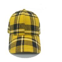 Buy cheap Plaid 6 Panel Checkered Baseball Cap , Fashion Sports Fitted Hats 58cm Size product