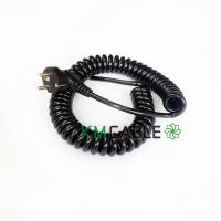 China 10 Amp Retractable Coil Cable , 12V EU Plug Braided Flexible Cable on sale