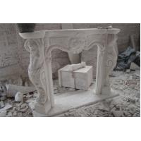 Quality Golden Bay Mantel Sculpture Marble stone Fireplace for sale