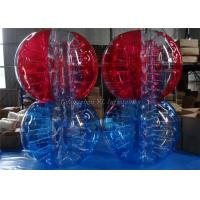 Buy cheap Outdoor Inflatable Body Bubble Ball , Colored Striped Soccer Bubble Ball product