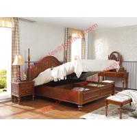Buy cheap Ancient Rome style Solid Wood Bed with Storage in Bedroom Furniture sets product