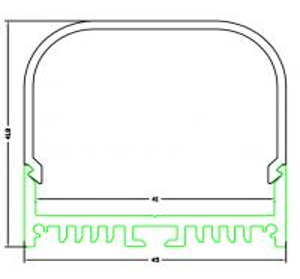 Quality aluminium profiles for led lighting for sale