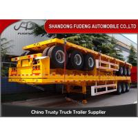 Buy cheap 6 / 12 Wheelers Flatbed Container Trailer With ABS System BPW Brand Axle product