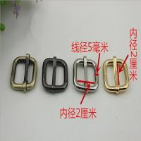 Buy cheap Bag making fittings 20 mm light gold iron adjust square ring adjustable buckle product