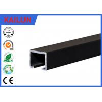 Buy cheap Black Anodized Aluminum Slide Track , Ceiling Mounted Curtain Track 20 X 25 Mm product