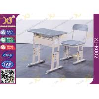 Buy cheap Grey Adjustable Classroom Desk And Chairs For Nigeria Ghana / Educational Furniture from wholesalers
