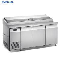 Quality Commercial Stainless Steel Under Counter Fridge Freezer Pizza Table Countertop Refrigerator for sale