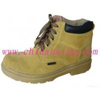 China Yellow Rubber Outsole Steel Toe Safety Shoes on sale
