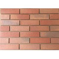 Buy cheap Split Tiles Exterior Thin Brick Red Effect Cladding Easy Construction product