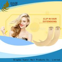 China Premium Double Drawn 100% Human Hair Clip In Hair Extension No shedding on sale