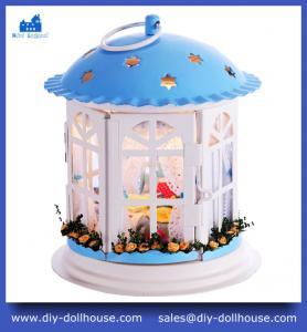 Buy cheap Christmas Gift Wooden Miniature Mini Dollhouse DIY Educationa Toy Model House I005 product