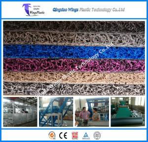 Buy cheap Plastic Car Floor Coil Mat Making Machine PVC Materials Car Coil Mat Production Line product