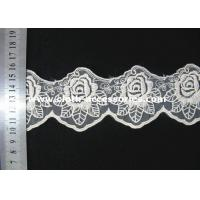 Buy cheap 3 Inch Vintage Rose Lace Fabric / Double Edged Flower Lace Trim For Sewing product