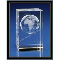 China Crystal 3D Laser Etched Globe on sale