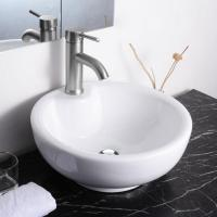 ceramic bathroom sink bowls white porcelain vessel sink home depot