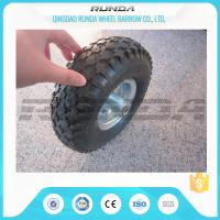 Buy cheap Staright Valve Pneumatic Rubber Wheels , Pneumatic Caster Wheels 3.50-6 Steel Rim product