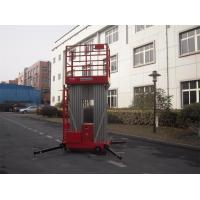 Buy cheap Dual Mast Hydraulic Aerial Work Platform Manual Push Around 8 Meter Platform Height product