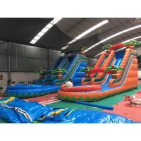Buy cheap Colorful Coconut Tree Wet And Dry Inflatable Slide For Advertising product