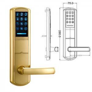 Buy cheap High Security Zinc Alloy Door Handle Lock Smart Key Password intelligent Door Lock product