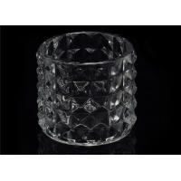 Buy cheap Customized High White Glass Tealight Holders For Home , Wedding , Party product