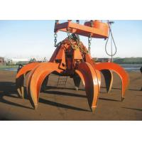 Buy cheap Hydraulic Clamshell Grab Bucket Orange Leakproof For Excavator Crane Pendant from wholesalers