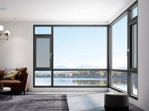Buy cheap Black Anodized Aluminum Windows , Inswing Outswing Corner Casement Window product