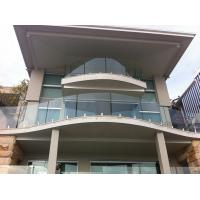 Quality Modern Home Balcony Glass Railing Design Stainless Steel Mini Post for sale