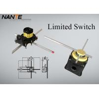 Buy cheap Galvanized Steel Electric Wire Rope Hoist Double Poles Yellow / Blue Cross Limiter from wholesalers