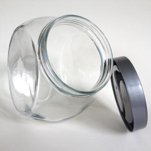 high quality clear glass candy jar,food storage jar