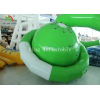 Buy cheap Green / White UFO Shape PVC Tarpaulin Inflatable Floating Saturn Water Toy For Climbing product
