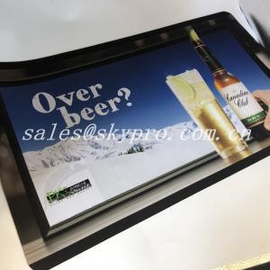 Buy cheap Hot selling nitrile fabric bar mat neoprene bar mats 3D OEM logo custom printing from wholesalers