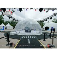 Buy cheap 100sqm Steel Frame Geodesic Dome Tents With Interior Decoration For Exhibition Show product