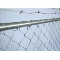 Buy cheap Hot dipped Galvanized Chain Link Fence Panels Height 6' Width 10' 33mm outer frame with Barb Wire from wholesalers