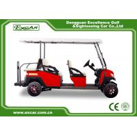 China Fuel Type Electric Golf Carts Red 6 Seater Golf Cart With Graziano Axle on sale