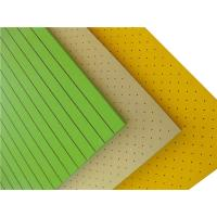 Buy cheap High Absorption Perforated Wood Acoustic Panels Wood Fiber Acoustic Board product