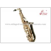 Buy cheap Eb Professional Alto Saxophone , High F# Student Alto Saxophone Gold Laquer Finish product