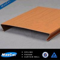 Quality u Shape Aluminum Faux Wood Strip Ceiling for sale